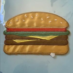 3/$10 NWT burger patches iron on
